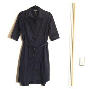 White House Black Market dress belted size 8
